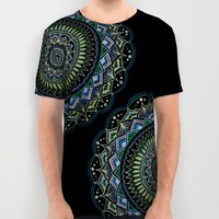 Blue and Green Mandala All Over Print Shirt by YiaEfthimia