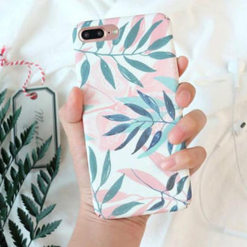 Tropical Leave iPhone X 8 7 6s 6 Plus Case Samsung s8 s7 Edge S6 Topical Leaf Case Banana Palm Leave Minimalist Gift for Her iPhone Case