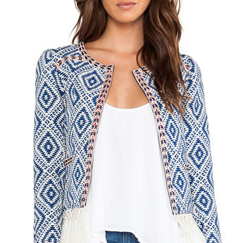 Tularosa Santa Fe Fringe Jacket in Blue