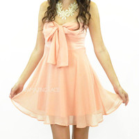 Bring Me To Bali Strapless Dress Coral Blush