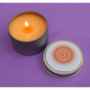 Sacral Chakra Candle - Passion, Creativity & Emotional Freedom - Svadhishthana 2nd Orange Naval Chakra