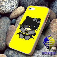 batman hello kitty - iPhone 5C Case, iPhone 5/5S Case, iPhone 4/4S Case, Durable Hard Case FS