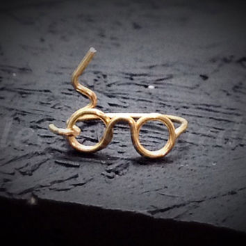 Custom Wire Harry Potter Glasses Ring (MADE TO ORDER) Lightning Bolt Ring, Silver Ring, Gold Ring, Copper Ring, Magic Ring, Wizard Ring