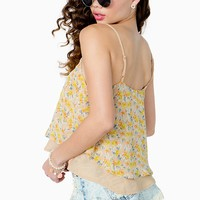 Daisy Field Double Layer Cami