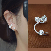 NT0039 Bowknot is ear clip earrings