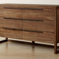 Linea Natural 6-Drawer Dresser