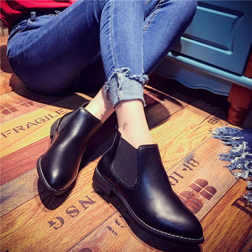 Hot Deal On Sale Casual Dr. Martens Winter Round-toe Boots [8865342988]