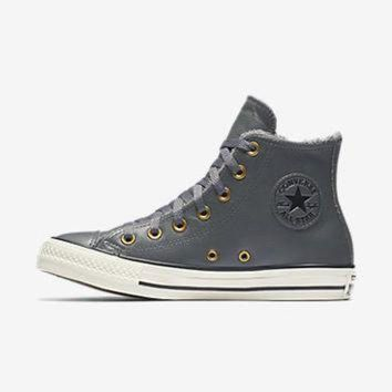 1dadf923e36a CREYUG7 CONVERSE CHUCK TAYLOR ALL STAR LEATHER AND FAUX FUR HIGH