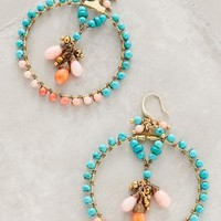 Carousel Hoops by Anthropologie Medium Pink One Size Earrings