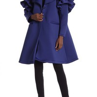 CQ by CQ | Ruffle Detail Sleeve A-Line Coat | Nordstrom Rack