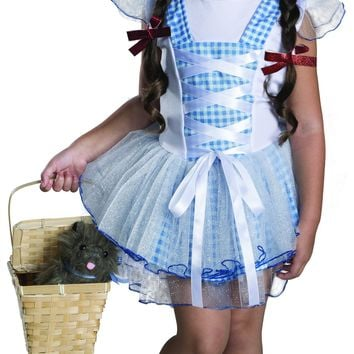 Rubies Wizard of Oz 75th Anniversary Dorothy Tutu Dress Costume Toddler Size