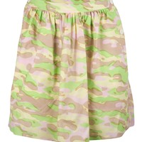 Camouflage Printed Cotton Skirt