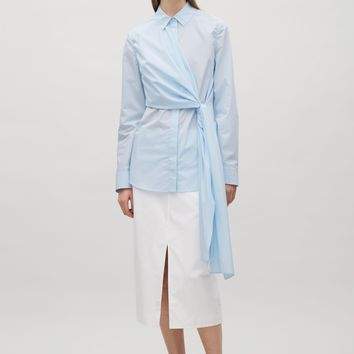 Shirt with knot detail - Pale Blue - Shirts - COS US