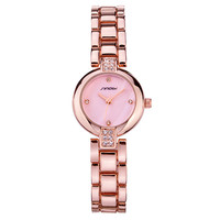 Hot Sale Great Deal Watch Surface Stainless Steel Band Stylish Diamonds Quartz Bracelet( with Gift Box) [9857415439]