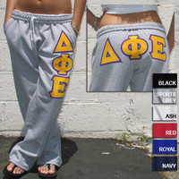 Open Bottom Pocketed Sorority Sweatpants | Sorority clothing and apparel from SomethingGreek.com
