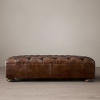 Churchill Leather Coffee Ottoman