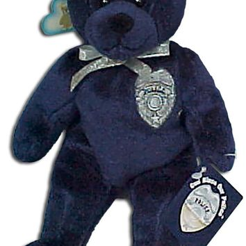 "Holy Bears, Teddy Bear, 8"" Approx Stuffed Animal, Navy Blue Police Bear. God Bless Our Police! Inside Hangtag: Blessed Are the Peacemakers: For They Shall Be Called the Children of God. - Matthew 5:9."