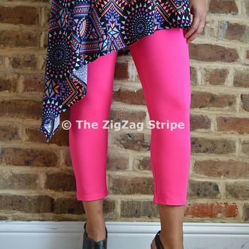 Hot Pink Capri Skinnies