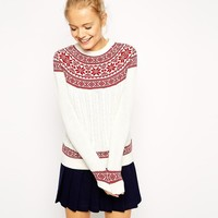 ASOS | ASOS Christmas Jumper in Fairisle Pattern at ASOS