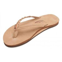 Flirty Braidy Leather Sandal in Sierra Brown by Rainbow Sandals
