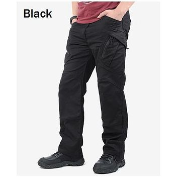 IX9 City Tactical Cargo Pants Men Combat SWAT Army Military Pants Cotton Many Pockets