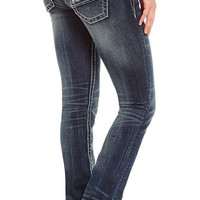 Miss Me Sequin & Stud Straight Leg Jeans