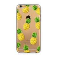 pineapple transparent phone case for iphone