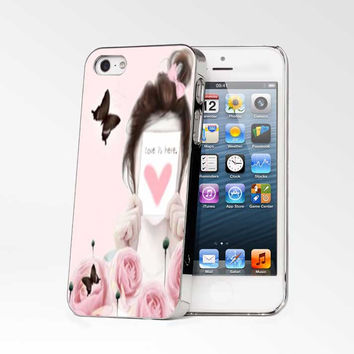 Love Is Here Pink iPhone 4s iphone 5 iphone 5s iphone 6 case, Samsung s3 samsung s4 samsung s5 note 3 note 4 case, iPod 4 5 Case
