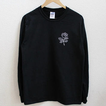Rose Flower Unisex Long Sleeve Shirt