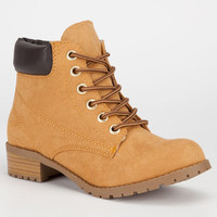 Soda Equity Womens Work Boots Blond  In Sizes