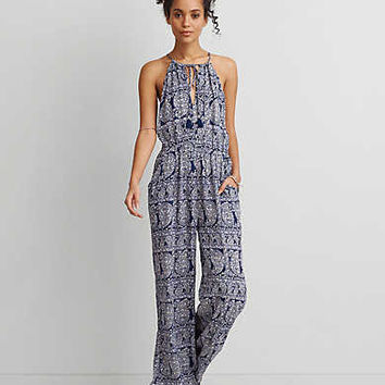 AEO HI-NECK WIDE LEG JUMPSUIT