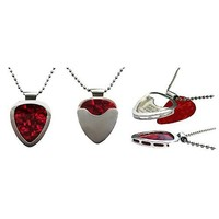 PICKBAY .925 Sterling Silver Guitar Pick Holder Pendant Necklace Set ENGRAVABLE & 1mm Sterling Silver Necklace Ultimate Gift (Original & Authentic)