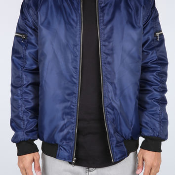 The Brink Bomber Jacket in Navy