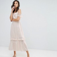 Vero Moda Cold Shoulder Maxi Dress at asos.com