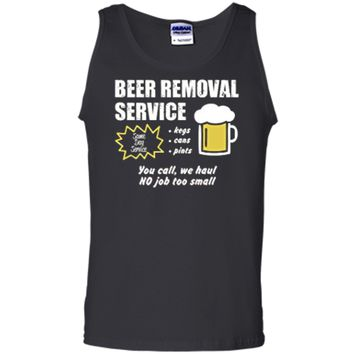 Funny Beer removal service beer drinking t-shirt Tank Top