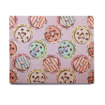 "Mukta Lata Barua ""Donut Love"" Multicolor Pastel Pattern Love Digital Illustration Birchwood Wall Art"