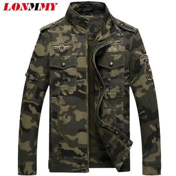 LONMMY winter 2017 bomber jacket men Military Brand Jacking man winter jackets Mens coats Army Jackets mens coat Cotton M-6XL
