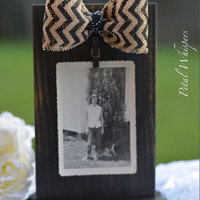 Distressed Wood Photo Frame Display - Wood Photo Holder - Picture Display - Rustic Wooden Photo Frame - Wood Picture Display - Home Decor