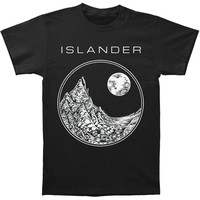 Islander Men's  Mountains T-shirt Black