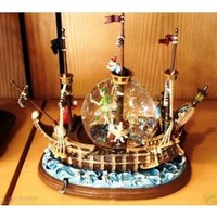 Peter Pan Pirate Ship Musical Snowglobe