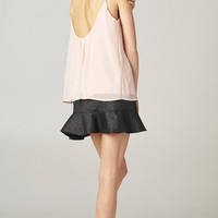 LOW BACK PINK CHIFFON TOP