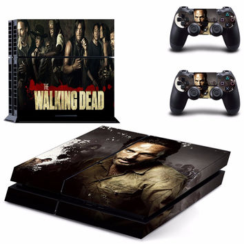 The Walking Dead Vinyl Decal Skin For playstation 4 Console +2Pcs Stickers For ps4 Controllers