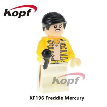 Building Blocks Single Sale Freddie Mercury Lead Singer Queen Donald Trump Hillary Clinton Super Heroes Toys for children KF196