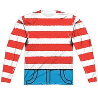 Where's Waldo Costume Long Sleeve Sublimation Shirt
