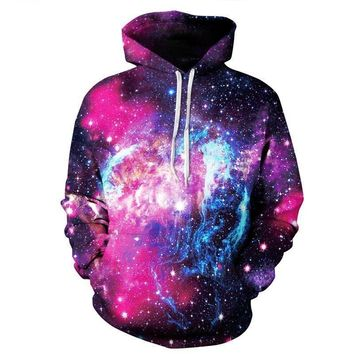 Celestial Space Stars Galaxy Astronomy Cosmic Dust All Over Print Hoodie Sweater