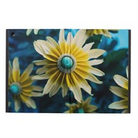 Yellow, Blue and White Floral Photography Cover For iPad Air
