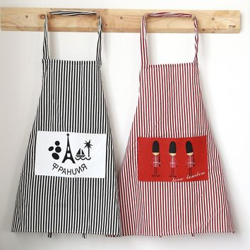 simple Kitchen Clean apron with 2pocket  work Apron organizer home Woman Bib Cocina Delantal  Cooking Apron coffee house work