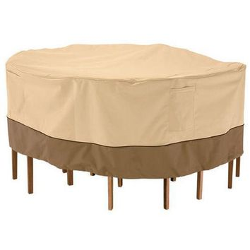 Armor Shield Patio Table & Chair Set Cover Fits Round Table & 4 Standard Chairs Upto 60'' Dia. x 23''H