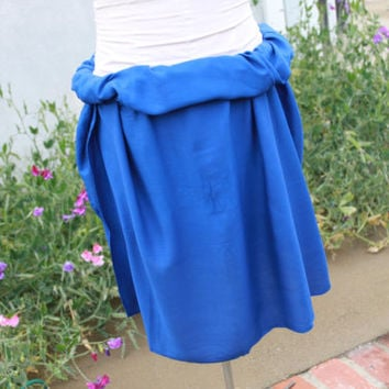 Royal Blue-Pareo-solid color-full sized-rayon- sarong-half sized, mini, pareau, blue, wrap. Tahitian pareo 100 percent rayon