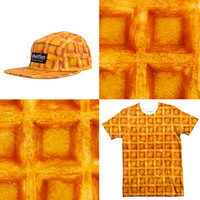Waffle Tee and 5-Panel Hat Combo